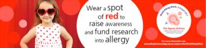 Wear a spot of red for World Allergy Week